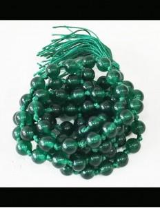 Natural Green Hakik Mala 108 Beads, 6mm