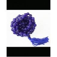 Natural Blue Hakik Mala 108 Beads, 6mm
