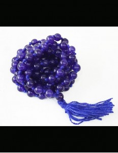 Natural Blue Hakik Mala 108 Beads, 6mm