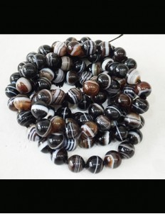 Natural Certified Sulemani Hakik/Akik/Agate Stone Mala 108 Beads, 8mm