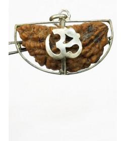 1 Face/Mukhi Certified Rudraksha Silver Pendant