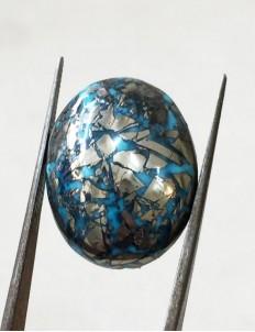 29.41 ct  Natural Certified Irani Feroza/Turquoise