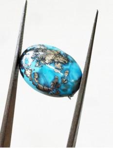 8.25 ratti (7.36 ct) Natural Certified Irani Feroza/Turquoise