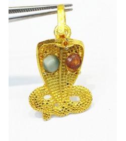 Kaalsarp dosh Pendant with (Gomed) Garnet for rahu Cat's Eye for ketu