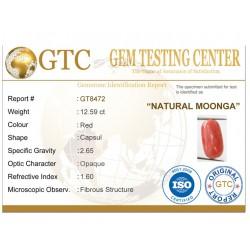 14.00 ratti (12.59 ct) Natural Certified Moonga/Coral