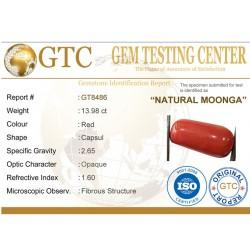 15.53 ratti (13.98 ct ) Natural Certified Moonga/Coral