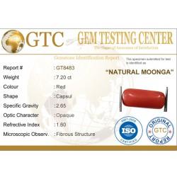 8.00 ratti (7.20 ct) Natural Certified Moonga/Coral
