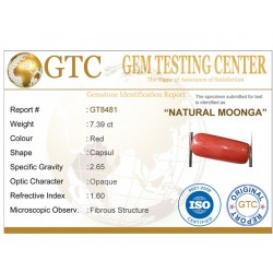 8.25 ratti (7.39 ct) Natural Certified Moonga/Coral