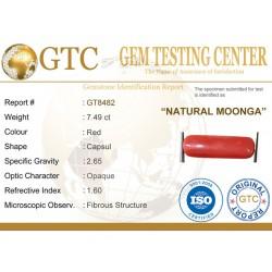 8.32 ratti (7.49 ct) Natural Certified Moonga/Coral