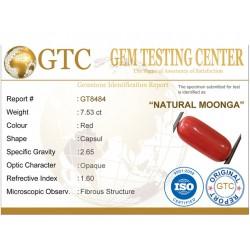 8.37 ratti (7.53 ct) Natural Certified Moonga/Coral