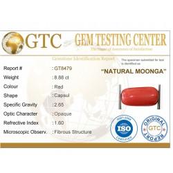 9.87 ratti (8.88 ct) Natural Certified Moonga/Coral