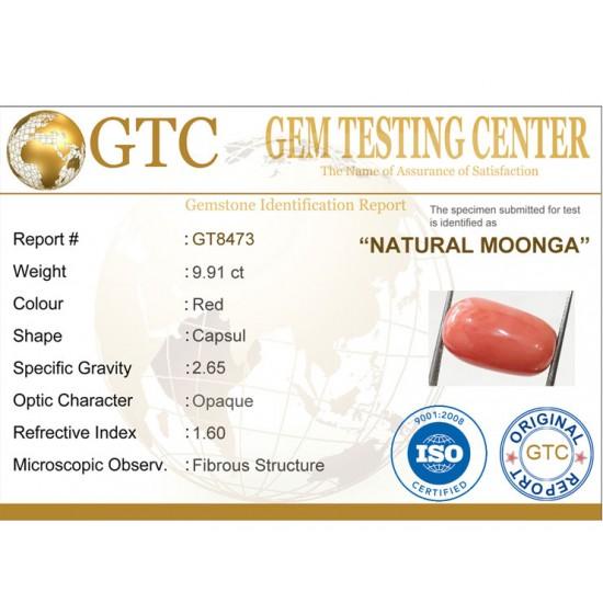 11.00 ratti (9.91 ct) Natural Certified Moonga/Coral
