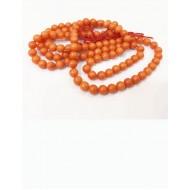 Natural Certified Moonga/Coral Mala 4mm