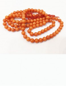 Natural Certified Moonga/Coral Mala 4mm