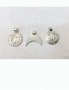 Silver Chand, Suraj, Haay Pendant For Baby