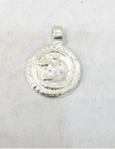 Silver Om Pendant For Baby