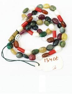 Natural Certified Navratana Stones Mala