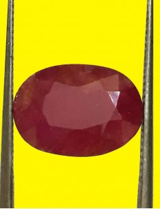 6.36 ct Natural Certified Non Heat Non Treat Ruby/Manik