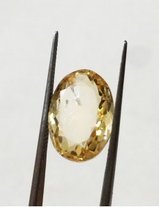 6.25 ratti (5.72 ct) Natural Certified Sunela (Citrine)