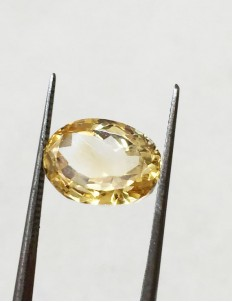 6.65 ratti (6.06 ct) Natural Certified Sunela (Citrine)