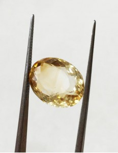8.00 ratti (7.14 ct) Natural Certified Sunela (Citrine)