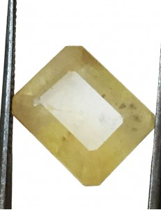 10.44 ct/10.50 ratti Natural Certified Bangkok Pukhraj/Yellow Sapphire