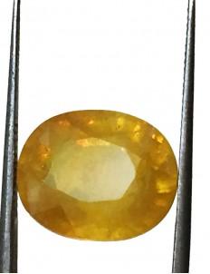 10.92 ct/12.25 ratti Natural Certified Bangkok Pukhraj/Yellow Sapphire