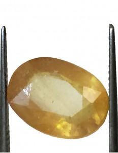 5.13 ct/5.65 ratti Natural Certified Bangkok Pukhraj/Yellow Sapphire
