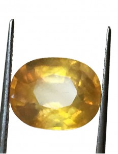 6.41 ct/7.25 ratti Natural Certified Bangkok Pukhraj/Yellow Sapphire