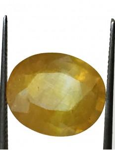 7.99 ct/8.90 ratti Natural Certified Bangkok Pukhraj/Yellow Sapphire