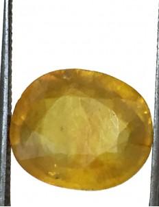 8.19 ct/9.25 ratti Natural Certified Bangkok Pukhraj/Yellow Sapphire