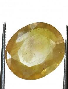 8.66 ct/9.50 ratti Natural Certified Bangkok Pukhraj/Yellow Sapphire