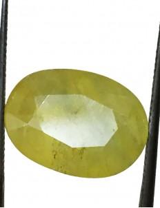 9.54 ct/10.50 ratti Natural Certified Bangkok Pukhraj/Yellow Sapphire