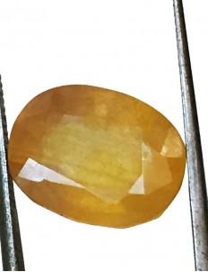 9.55 ct/10.50 ratti Natural Certified Bangkok Pukhraj/Yellow Sapphire
