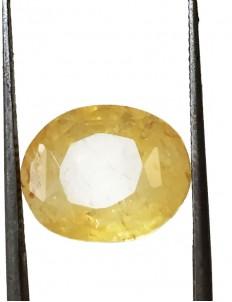 9.44 ct/10.50 ratti Natural Certified Ceylon Pukhraj/Yellow Sapphire